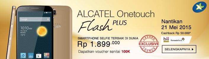 Alcatel Onetouch Flash Plus Dari Lazada, Untuk Para Penggemar Selfie
